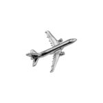 Flugzeug Pin Airbus A321 silber